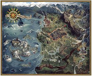 Witcher 3 Puzzle - Northern Realms Map