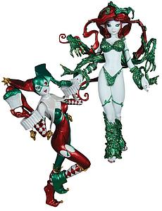 "DC Direct Ame-Comi Heroine-Series 9"" 2-Pack Statues: Harley Quinn & Poison Ivy"