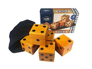 Giant Roll 'Em Dice (Set of 5 Wooden Lawn Dice)