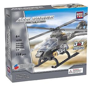 Brictek Air Force Set: 3 in 1 Attack Helicopter
