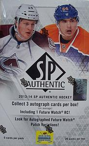 2013-14 Upper Deck NHL Trading Cards SP Authentic Box (20 Packs)