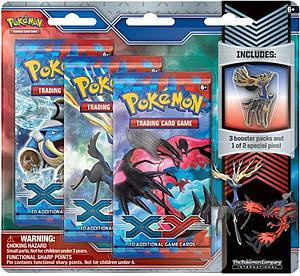 Pokemon Trading Card Game: XY 3-Packs Blister with Collector's Pin Xerneas