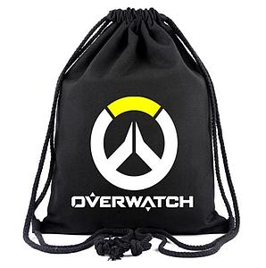 Overwatch Drawstring Backpack Logo