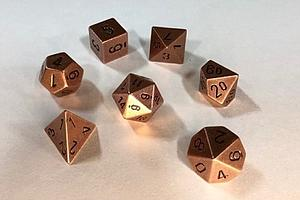 Metal 7-Dice Set: Copper