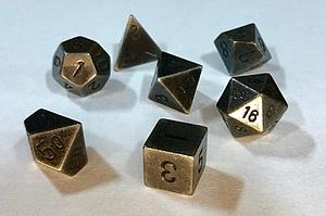 Metal 7-Dice Set: Dark Metal