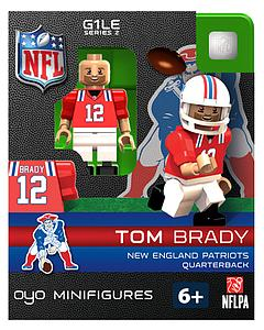 NFL Football Minifigures: Throwback Tom Brady (New England Patriots)