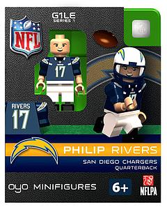 NFL Football Minifigures: Philip Rivers (San Diego Chargers)