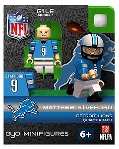 NFL Football Minifigures: Matthew Stafford (Detroit Lions)