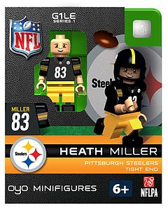 NFL Football Minifigures: Heath Miller (Pittsburgh Steelers)