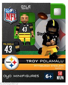 NFL Football Minifigures: Troy Polamalu (Pittsburgh Steelers)