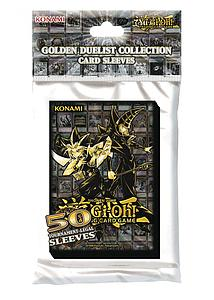 YuGiOh! Card Sleeves 50 Pack Small Size: Golden Duelist Collection