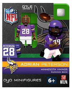 NFL Football Minifigures: Adrian Peterson (Minnesota Vikings)
