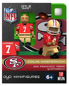 NFL Football Minifigures: Colin Kaepernick (San Francisco 49ers)