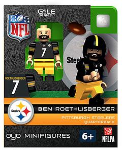 NFL Football Minifigures: Ben Roethlisberger (Pittsburgh Steelers)