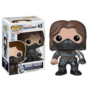 Pop! Marvel Captain America The Winter Soldier Vinyl Bobble-Head Winter Soldier Unmasked #43 (Retired)
