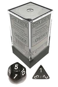 Translucent 7-Dice Set: Smoke/white