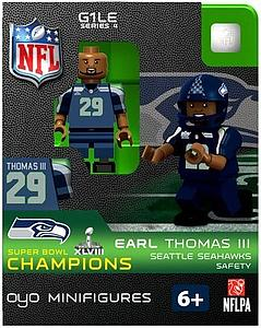 NFL Football Minifigures: Earl Thomas III (Seattle Seahawks) Super Bowl XLVIII Champions