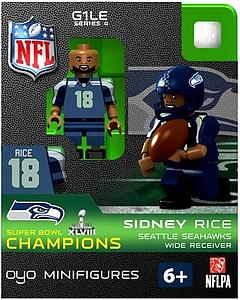 NFL Football Minifigures: Sidney Rice (Seattle Seahawks) Super Bowl XLVIII Champions
