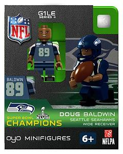 NFL Football Minifigures: Doug Baldwin (Seattle Seahawks) Super Bowl XLVIII Champions