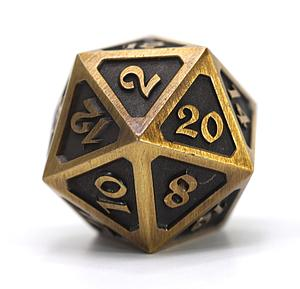 Big D20 - Mythica Battleworn Gold