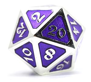 Big D20 - Mythica Platinum Amethyst