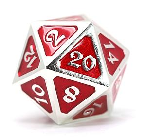 Big D20 - Mythica Platinum Ruby
