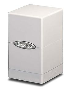 Satin Tower Deck Box: White