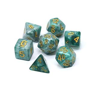 Poly RPG 7-Dice Set: Serpentine