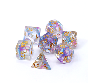 Poly RPG 7-Dice Set: Blue/Purple Wisp