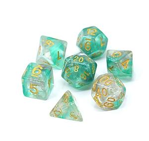 Poly RPG 7-Dice Set: Venom Wisp