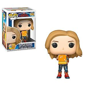 Pop! Marvel Captain Marvel Bobble-Head Captain Marvel with Lunchbox #444 Glows in the Dark