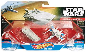 Hot Wheels Die-Cast Star Wars The Force Awakens 2-Pack First Order Transporter vs Resistance X-Wing Fighter