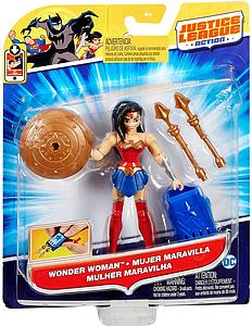 "Justice League Action JLA Power Connects 4.5"" Action Figure Wonder Woman"