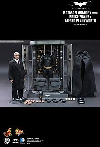 The Dark Knight Movie Masterpiece Series 1/6 Scale: Batman Armory with Alfred Pennyworth and Batman