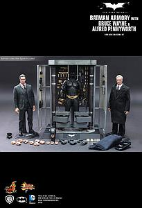 Batman Armory with Alfred Pennyworth, Bruce Wayne & Batman (MMS236)