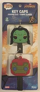 Funko Marvel Avengers Infinity War Key Caps Gamora and Iron Man Collector Corps Exclusive