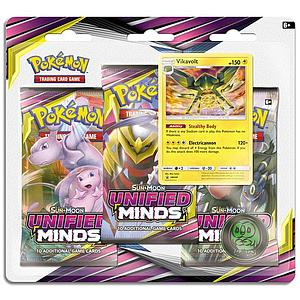 Pokemon Trading Card Game: Sun & Moon (SM11) Unified Minds 3-Pack Blister - Vikavolt