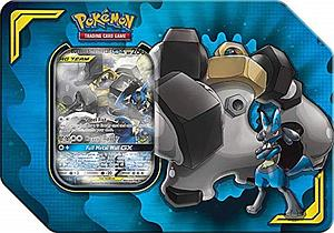 Pokemon Trading Card Game: Power Partnership Tag Team Tin - Lucario & Melmetal-GX