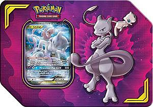 Pokemon Trading Card Game: Power Partnership Tag Team Tin - Mewtwo & Mew-GX
