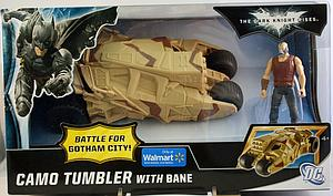 Mattel Batman The Dark Knight Rises Battle for Gotham City Vehicle: Camo Tumbler & Bane