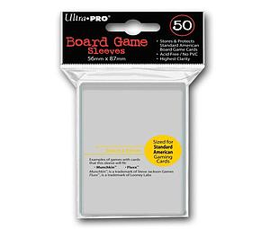 Card Sleeves Board Game Standard American Size 56mm x 87mm (50 Pack)