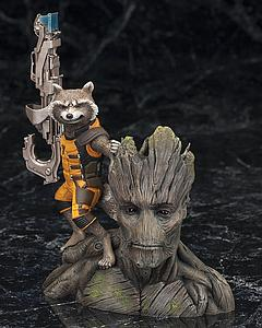 Kotobukiya ArtFX Marvel Comics Guardians of the Galaxy Rocket Raccoon Statue