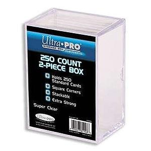 250 Count Clear Card Storage: 2-Piece Box