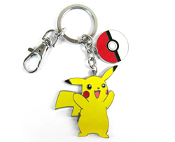 Pokemon Keychain: Pikachu w/ Pokeball