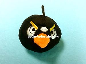 "Plush Toy Angry Birds 3"" Black Bird"