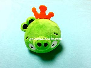 "Plush Toy Angry Birds 3"" Pig King"
