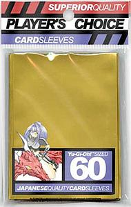 Player's Choice Japanese Quality Small Card Sleeves: Gold