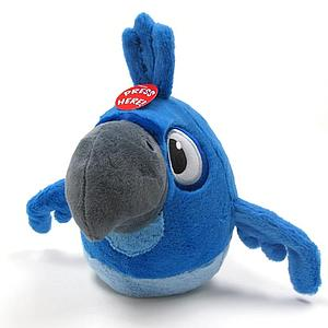 Plush Toy Angry Birds 8 Inch RIO Blu with sound