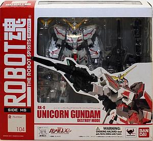 Gundam Robot Spirits Damashii Model Kit: #104 Unicorn Gundam (Destroy Mode)