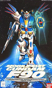 Gundam Mobile Suit Gundam F90 1/100 Scale Model Kit: Gundam F90 V Type